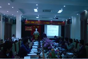 Tập huấn Phần mềm QLNS dự án đầu tư PABMIS tại Sở Tài chính Vĩnh phúc