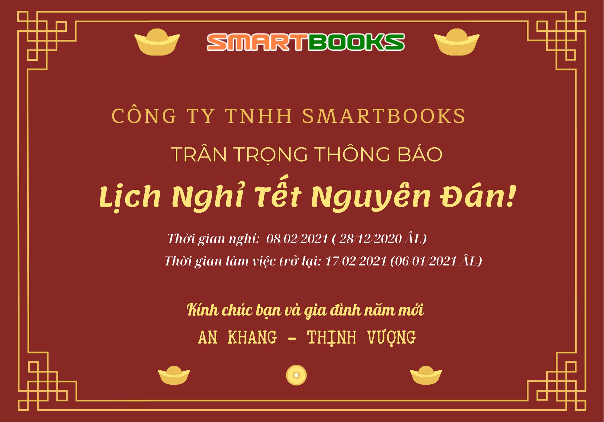 SmartBooks thông báo lịch nghỉ Tết nguyên đán năm 2021